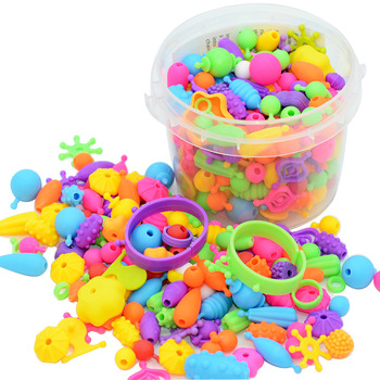Wymienne koraliki Pop wymienne bransoletki zabawki prezent dziewczyny zabawki dla 8 lat zestawy dla dzieci zabawki hobby sztuka i rękodzieło DIY zabawki tanie i dobre opinie 5 ~ 7 Lat 8 ~ 13 Lat Other