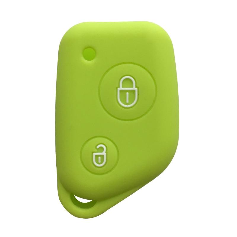 Key Cover For Citroen Berlingo Xsara Picasso Saxo 2 Button Silicone Key Case For Peugeot 106 205 206 306 405 406 Car Key Cover