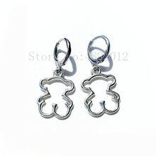 Boucles d'oreilles pendantes en acier inoxydable pour femmes, bijoux de qualité supérieure, Simple et généreux, en forme d'ours