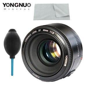 Image 2 - YONGNUO YN EF 50mm f/1.8 AF obiektyw do modeli canon EOS 350D 450D 500D 600D 650D 700D obiektyw aparatu przysłony automatyczne ustawianie ostrości YN50mm obiektyw Hot