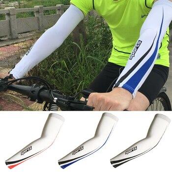 1 par Segurança Esporte Correndo Ciclismo Arm Warmers Braço Protetor UV Ice Suporte Elbow Protector Pads Capa Mangas Braço de Compressão