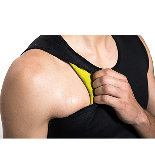 CXZD Men Neoprene Sauna Suit Hot Body Shaper Corset for Weight Loss with Zipper Waist Trainer Vest Tank Top Workout Shirt 2