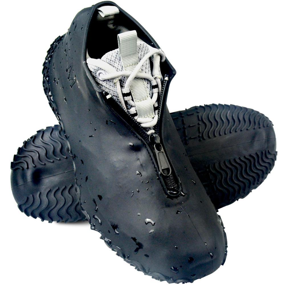 BXIO silikonowe pokrowce na buty z zamkiem błyskawicznym na zewnątrz silikonowy pokrowiec na buty mężczyźni wodoodporne pokrowce antypoślizgowe pokrowiec na buty