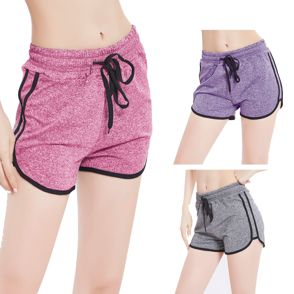 2019 Knitting Sexy Women's Sports High Waist Shorts Athletic Gym Workout Fitness Yoga Leggings Briefs Athletic Breathable