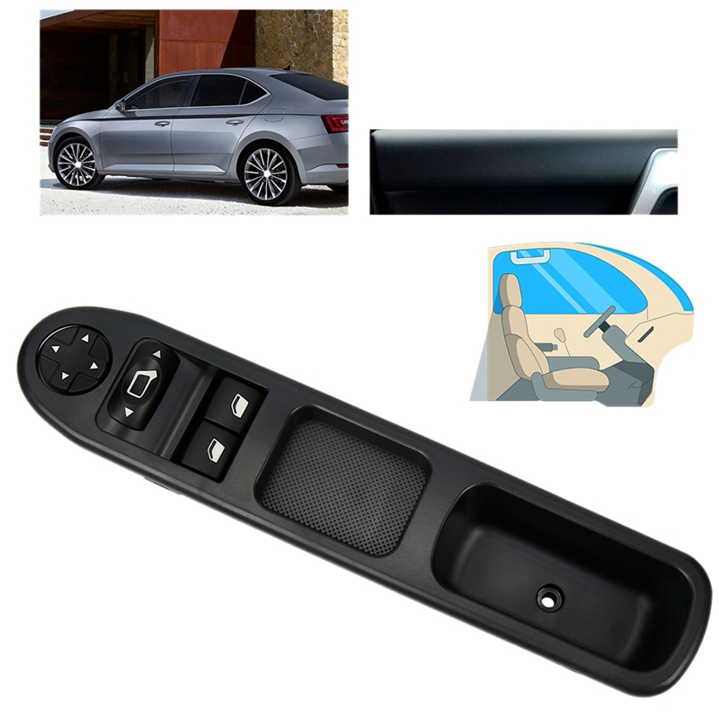 Window Switch Control Button Car Window Lifter For Peugeot 207 207SW 207CC OEM:6554.QA - 9654859677