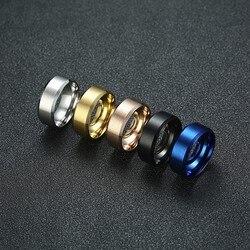 Vnox 8mm hommes anneau acier inoxydable bijoux de mariage Horus Anka Bible médicale