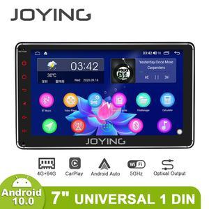 Image 4 - Disfrutando Radio Pantalla 1 din Android 10 reproductor Multimedia de la unidad 4GB 64GB Carplay Android Auto 4G HD Pantalla óptica salida OBD
