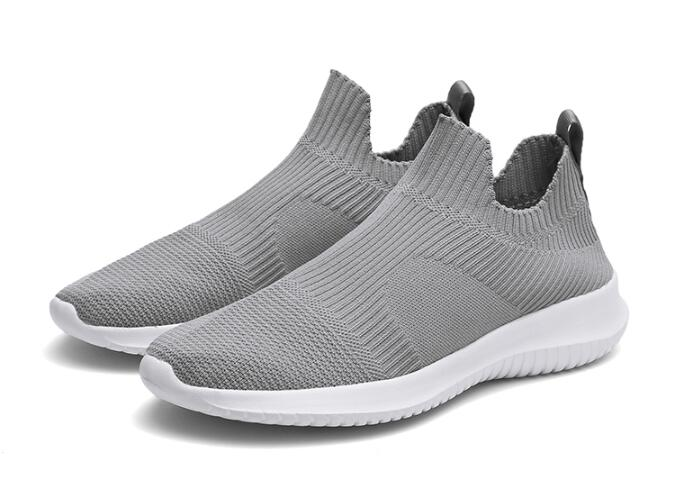 Hot SALE ! Men Routine Running Shoes Males Sock Shoes Mens Lightweight Slip-on Running Shoes Male Breathable Comfortable Footwear Fashion Sneakers