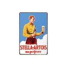 Metal estanho sinal stella artois ma preferee decoração bar pub casa vintage retro