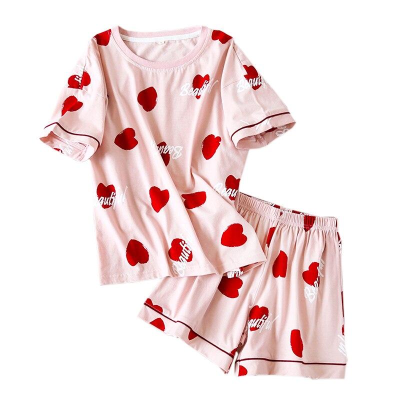 New Summer cute short sleepwear women pyjamas 100% cotton Korea sweet shorts pajama sets women homewear ladies nightwear|pyjamas women|womens pajamas setpajama sets - AliExpress
