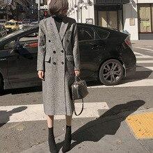 2020 Vintage Ladies Blazer Skirt Suit Slim Fashion Long Tweed Blazer Jacket Fema