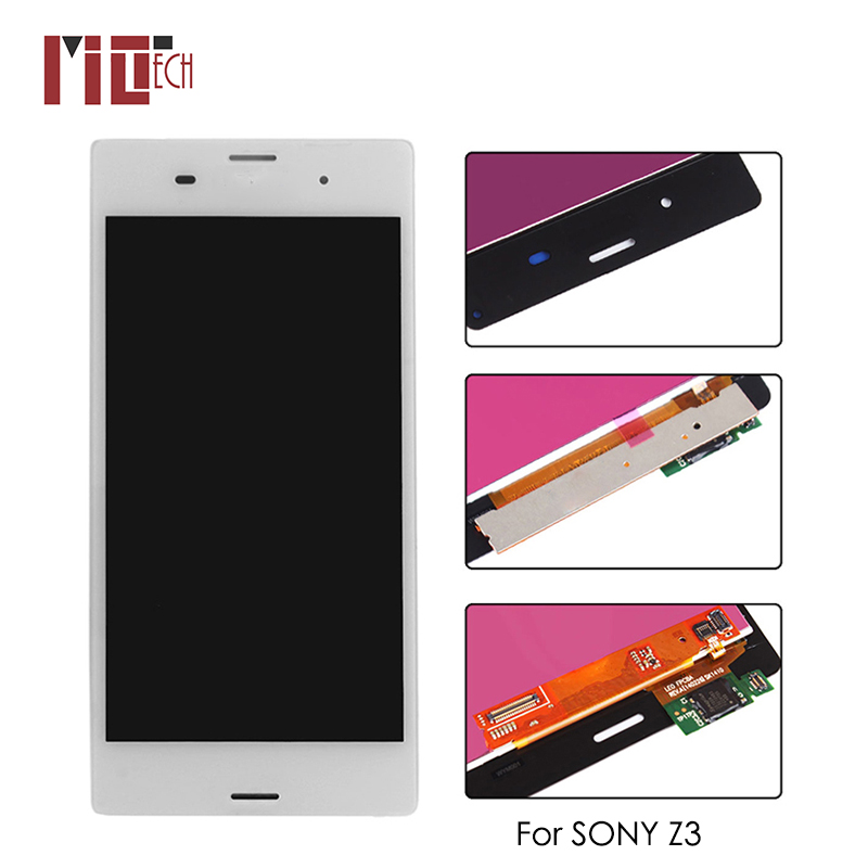 LCD Display For <font><b>Sony</b></font> Xperia <font><b>Z3</b></font> L55t <font><b>D6603</b></font> 5.2