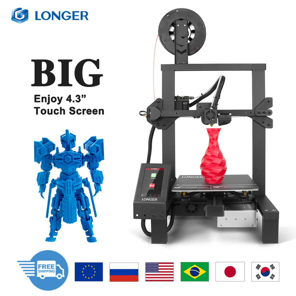 LONGER LK4 PRO 3D Printer with Big Touch Screen Open Source TMC2208 Quiet Printing  title=