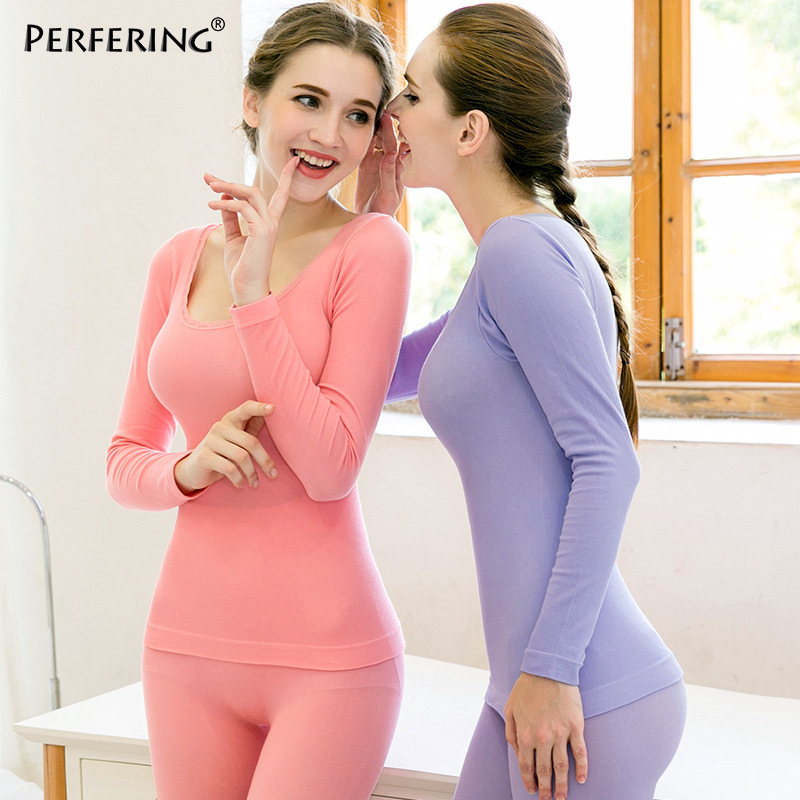 Perfering New Brand Thermal Underwear Set Women Winter Anti-microbial Stretch Thermo Underwear Sets Female Warm Long Johns HI-Q