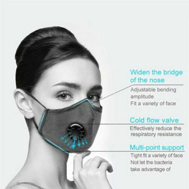 PM2.5 Cotton Mouth Mask Anti Dust Mask Activated Carbon Filter Windproof Anti Pollution Proof Flu Sponge Face Masks Reusable 2