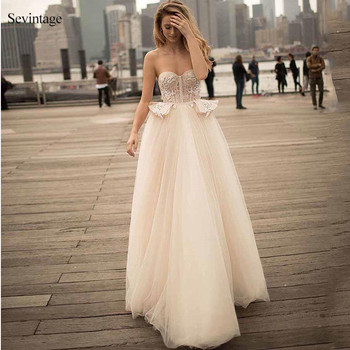 Sevintage Sweetheart Lace Boho Wedding Dresses A-Line Backless Bridal Gowns with Train Custom Made Bride Dress Robes De Mariée sweetheart girl camo wedding dresses with detachable train long bridal gowns camouflage formal real tree custom