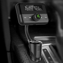 Автомобильный fm модулятор с bluetooth передатчик mp3 плеер