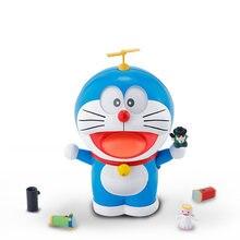 Kawaii doraemon modelo kit espíritos rosto olhos figura brinquedos robô de ação animal para o bebê crianças menino presente coleção aniversário