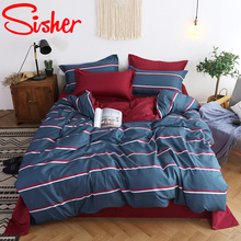 Sisher Brief floral Printed Bedding Set Queen size Duvet Cover Sets Animal Single Double king Quilt Bed Linen flat fitted Sheet