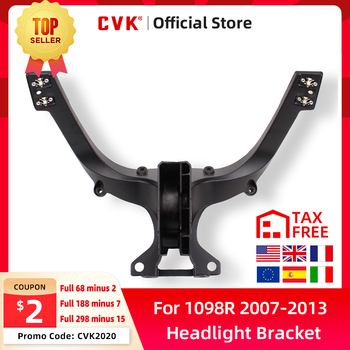 CVK Headlight Bracket Motorcycle Upper Stay Fairing for DUCATI 848 EVO 1098 1098R 1098S 2007 2008 2009 2010 2011 2012 2013 Parts free shipping upper fairing stay bracket for yamaha r6 2006 2007 r6s 2006 headlight fairing stay bracket