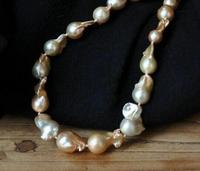 Nuclear pearl necklace 15 20mm south sea pink purple lavender huge 18 36