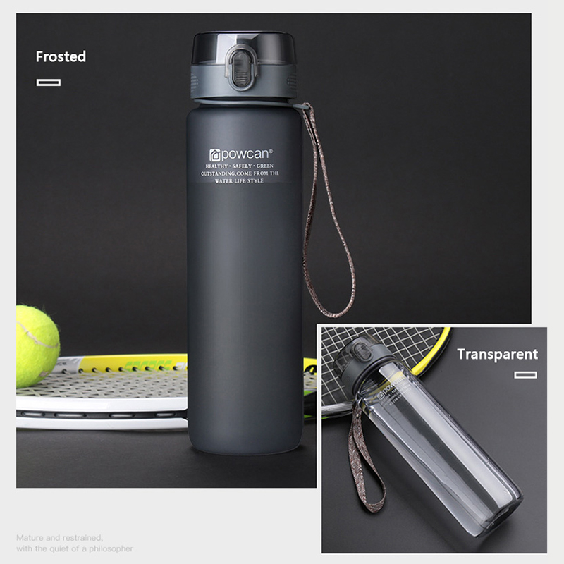 Explosive sports bottle 560/ 1000ML protein shaker outdoor travel portable leak-proof plastic cup beverage bottle BPA Free
