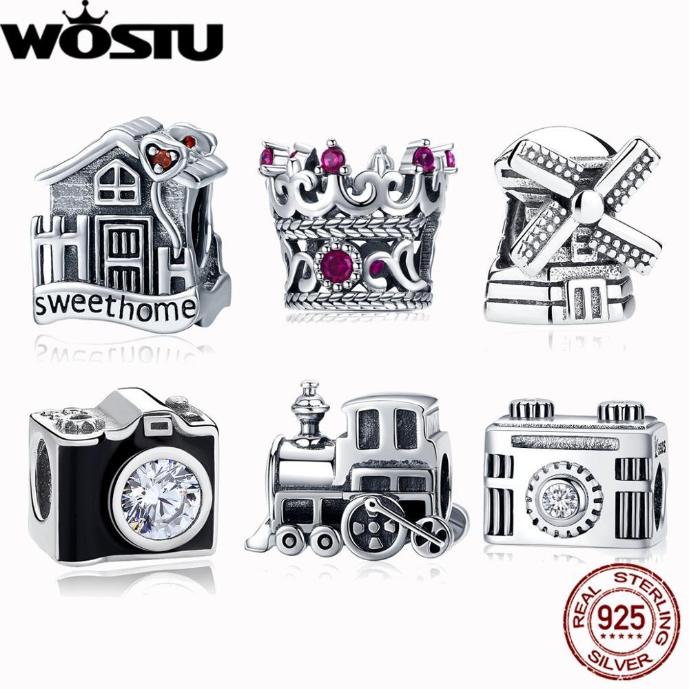 Charm Beads Windmill WOST Original Bangle Jewelry Bracelet 925-Sterling-Silver ZBBS261