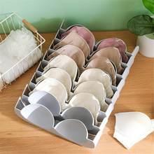 Caja de almacenamiento para sostén compartimento de plástico de caja de almacenamiento doméstico Kit cajón armario ropa interior organizadores divisor de gaveta # 10F