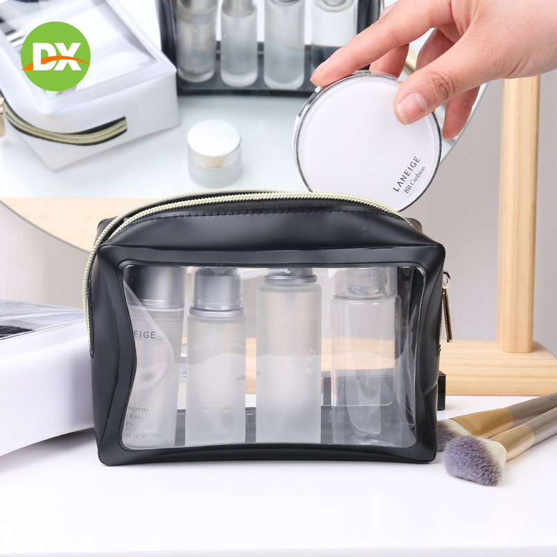Three color Jelly Cosmetic Transparent Three dimensional Waterproof Wash Bag Travel Storage Portable Clutch Organizer Beauty Kit in Storage Bags from Home Garden