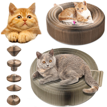 Cats Bed Pet Accordion Scratching Board Scratcher Funny Toy bed Training Tool D35