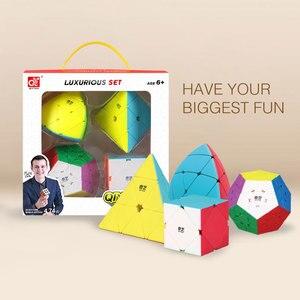 Image 2 - Mofangge 3*3*3 קסם קוביות מהירות מפואר קוביית קוביית סט 4pcs 3*3/4*4/5*5 מקצועי חידות קוביות למידה צעצועים לילדים