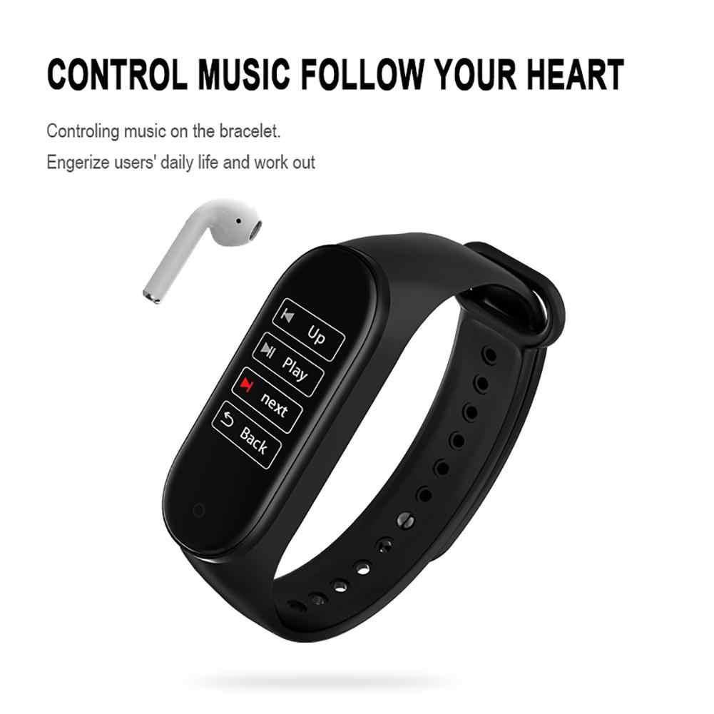 M4 スマートバンドリストバンド心拍数/血液/圧力/心拍数モニター/歩数計スポーツブレスレット PK M3 健康フィットネスブレスレット