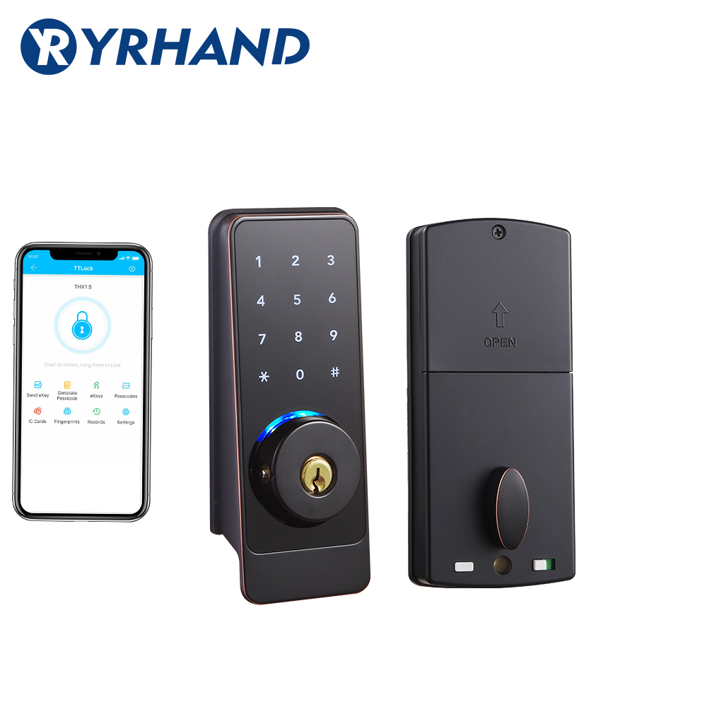TT Lock App Smart Door Lock, Waterproof  Electronic Deadbolt Security Safe Bluetooth RFID Keypad Digital Door Lock