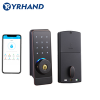 TT lock App Smart Door Lock, Waterproof Electronic Deadbolt Security Safe Bluetooth RFID Keypad Digital Door Lock