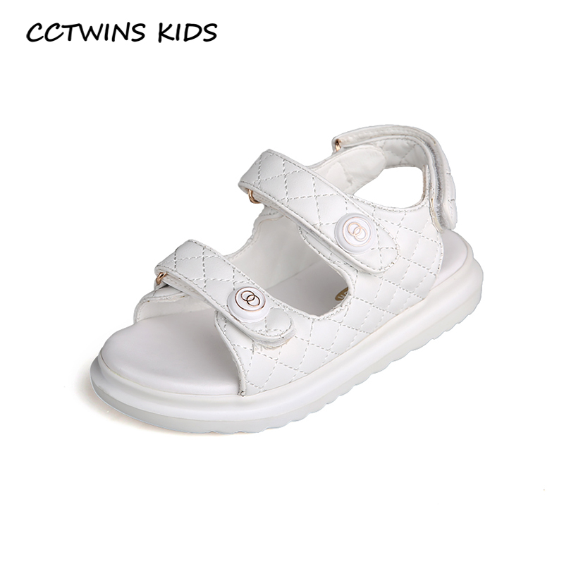 CCTWINS Kids Shoes 2020 Summer Children Fashion White Shoes Baby Brand Beach Sandals Girls Casual Soft Shoes Toddlers BS527