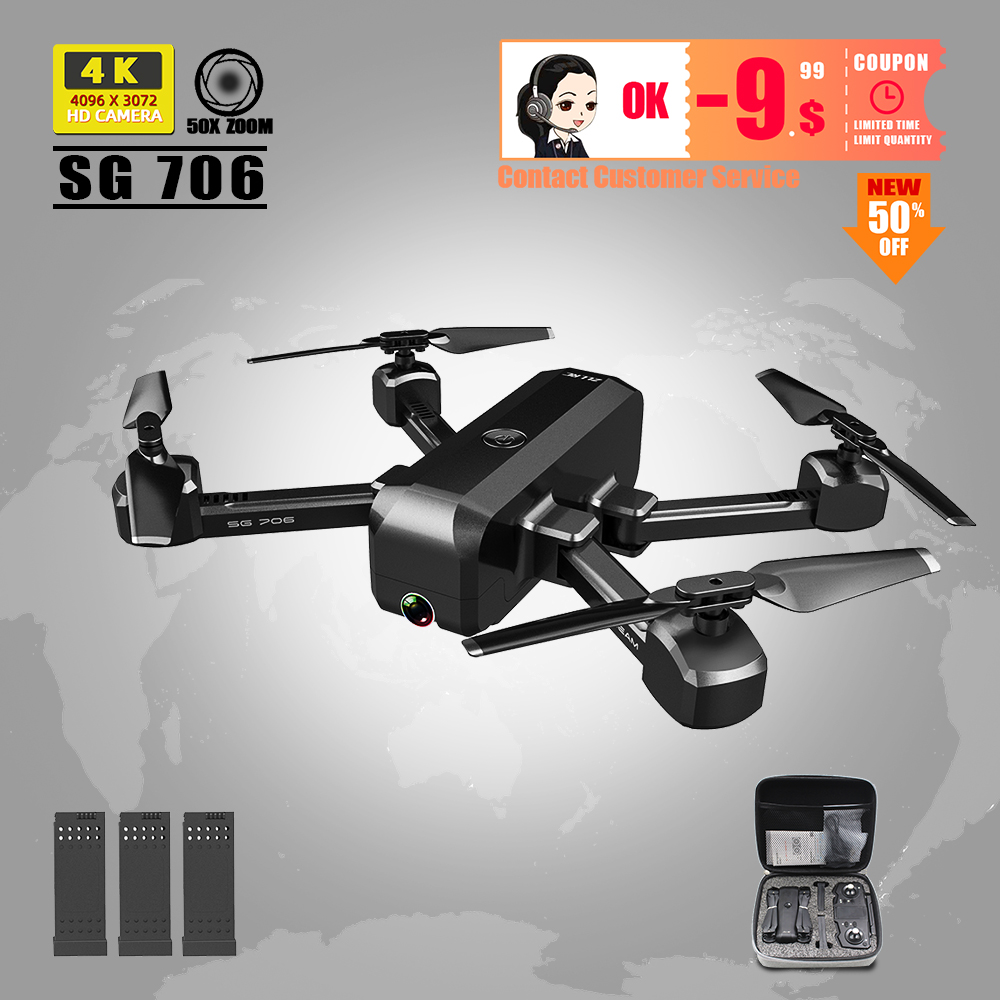 Drone RC 4K Dron With Camera  Profissional Quadcopter Toys Dron Selfie Helicopter For Kids Adults Juguetes SG706 Vs SG901 Z5 E58