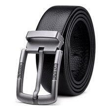 Williampolo casual business fashion Belt full grain leather Belt Silvery Belt Mens belt Pin Buckle Waist Belt