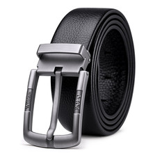 Williampolo casual business fashion Belt full-grain leather Belt Silvery Belt Men's belt Pin Buckle Waist Belt