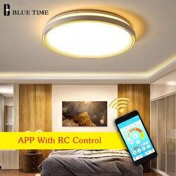 Niebieski czas nowoczesne oświetlenie LED żyrandol do salonu jadalnia sypialnia biały wykończone LED żyrandol u nas państwo lampy domu oprawy oświetleniowe
