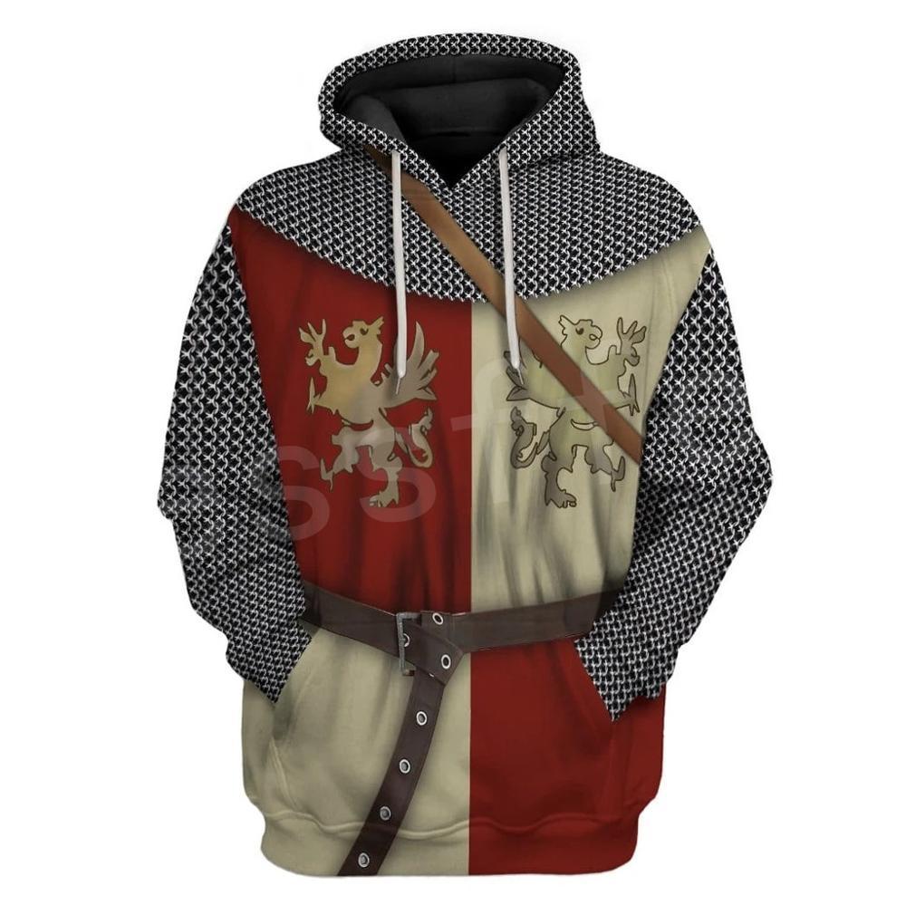 Tessffel Knight Templar Costume Armor Pullover NewFashion Harajuku Streetwear 3DPrint Unisex Zipper/Hoodies/Sweatshirt/Jacket 11