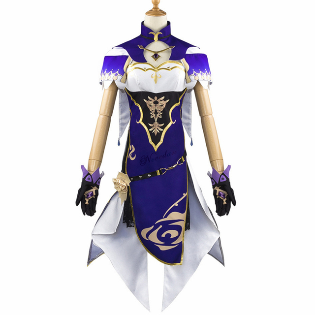 Anime Game Genshin Impact Lisa Witch of Purple Rose Cosplay Costume The Librarian Sexy Halloween Party Dress 4