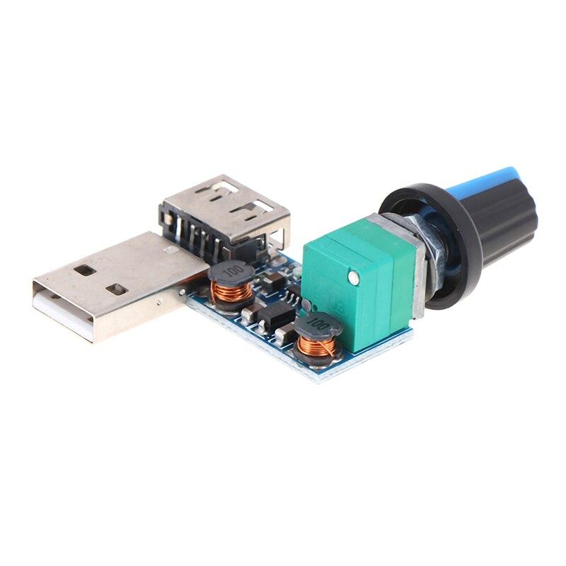 1Pc USB Fan Speed Controller Regulator Speed Variable Switch Module 5V ~12V