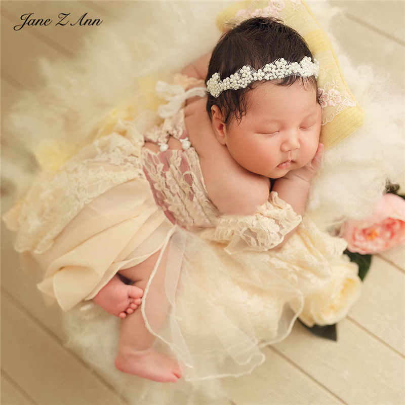 Newborn Baby Photography Props Girls Baby Clothes Hat Cap Princess Lace Outfits