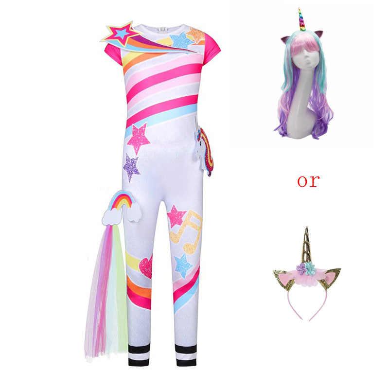 ילדים Unicorn Cosplay תלבושות ליל כל הקדושים תלבושות עבור ילדות קטנות פנטזיה מסיבת בגדי סרבל תינוקת ילדי חג המולד