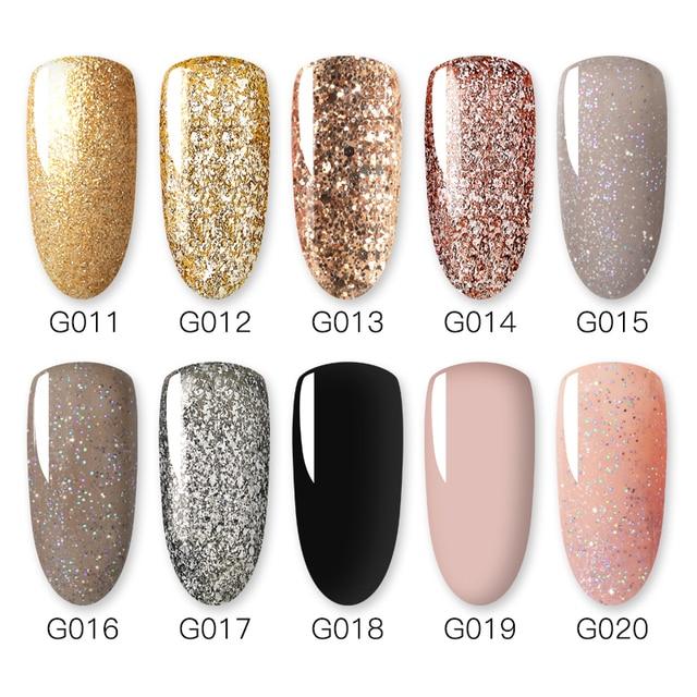 Gelfavor 8ml Gel Nail Polish Glitter For Manicure set nail art Semi platium UV LED Lamp Nail varnishes Base top coat Gel lacquer 5