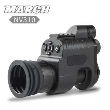 MARCH NV310 Digital WiFi Night Vision Scope Add On Attach Scout Monocular Hunting Camera Red dot Sight IR Night Vision Optics digital infrared nvr night vision rifle hunting goggles scope device riflescope camera otg for android phone micro usb monocular