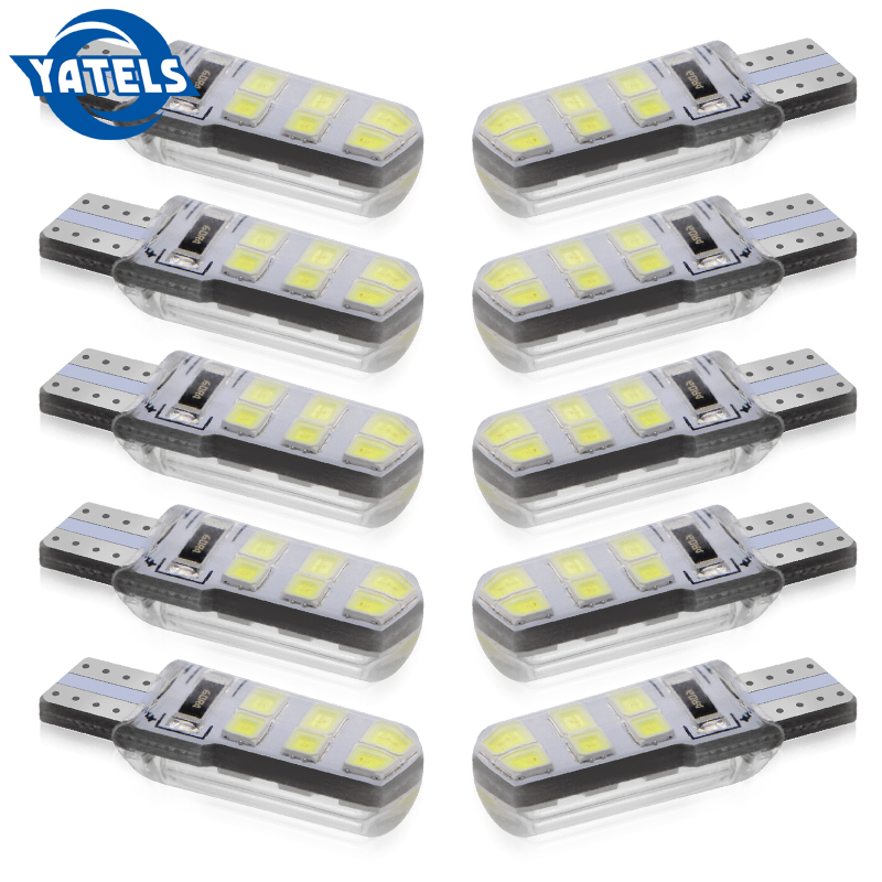 <font><b>10</b></font> PCS <font><b>T10</b></font> LED Waterproof Silica gel 2835 <font><b>SMD</b></font> Car Led bulb 12V Auto Canbus Wedge Light License Plate bulb Turn Signal lamp image