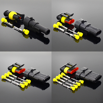 5 Sets Kit  1/2/3/4/5/6 Way Super  Waterproof Electrical Wire Connector Plug for car waterproof connector недорого