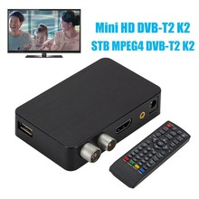 IG-K2 DVB-T / T2 TV Receiver 3D Digital Video Terrestrial MPEG4 PVR HD 1080P Set-Top Box TV Box(EU Plug)(China)