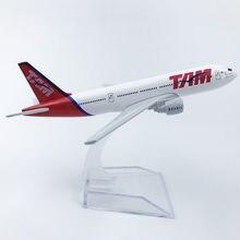 Brezilyalı TAM havayolları Boeing 777 uçak modeli 6